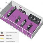 план размещения акустической системы в магазине